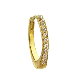 Yellow Gold Plated Cubic Zirconia Ear Cartilage Ring - Product number 3044041