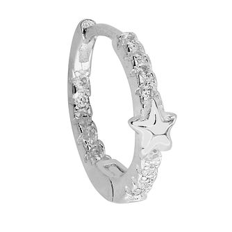 Silver Cubic Zirconia Star Ear Cartilage Ring - Product number 3044068