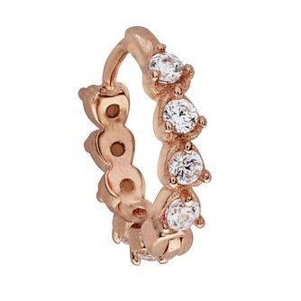 Bodifine Silver Rose Gold Plate CZ Cartilage Earring - Product number 3044092