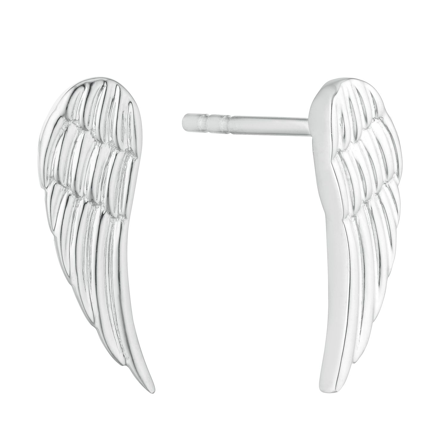 Silver Angel Wing Stud Earrings - Product number 3045072