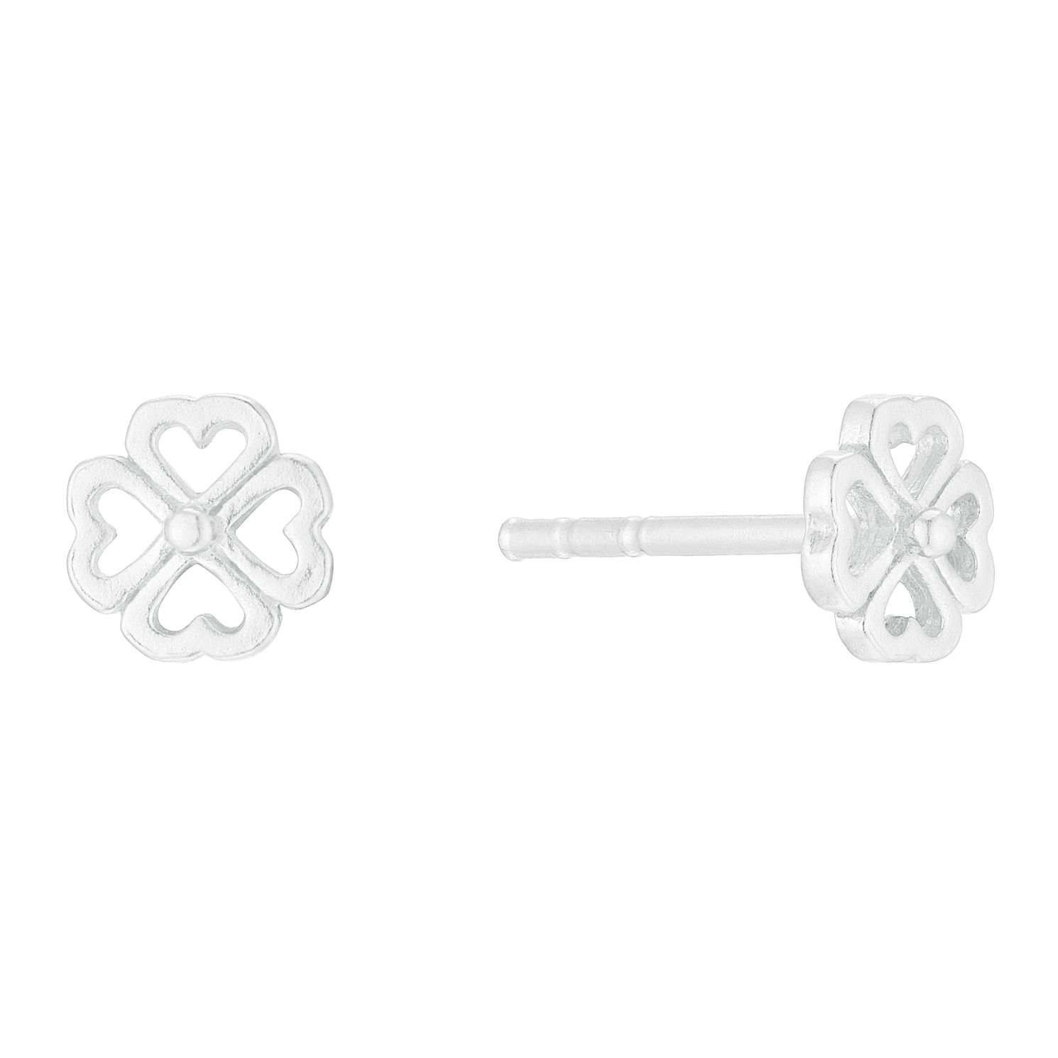 Silver Four Leaf Clover Stud Earrings - Product number 3045587