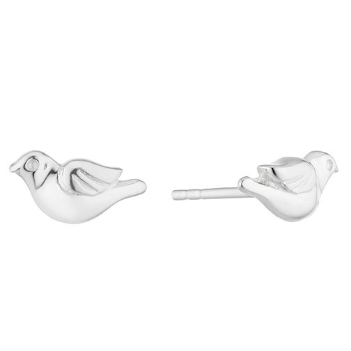 Silver Flying Bird Stud Earrings - Product number 3045897