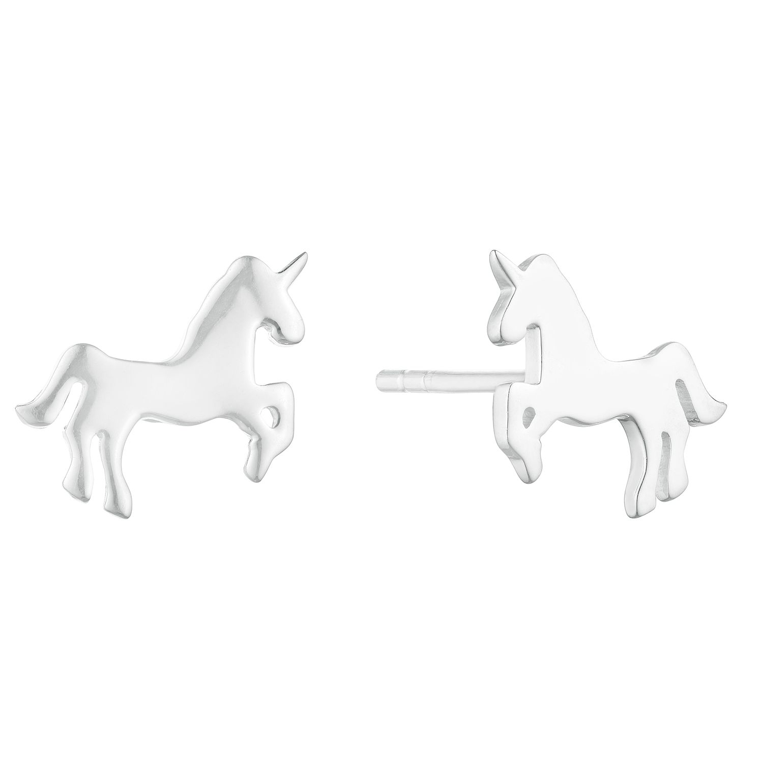 Silver Unicorn Stud Earrings - Product number 3045900