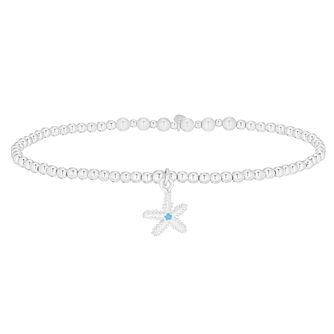 Silver & Zirconia Starfish Bracelet - Product number 3047342