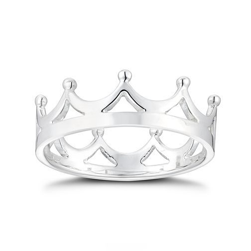 Silver Crown Ring - Size L - Product number 3047385