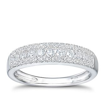 Tolkowsky platinum 1/3ct I-I1 diamond eternity band - Product number 3052281
