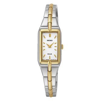 Seiko Solar Ladies' Two Colour Stainless Steel Watch - Product number 3053474
