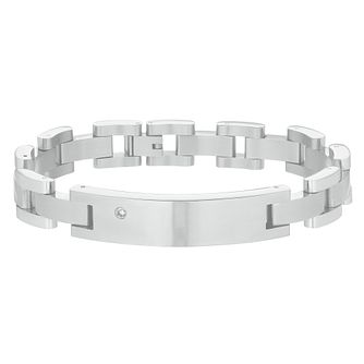 Men's Stainless Steel Diamond Bracelet - Product number 3054004