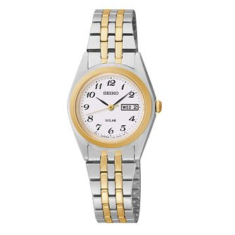 Seiko Conceptual Solar Ladies' Two Colour Bracelet Watch - Product number 3054071