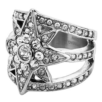 Dyrberg Kern Silver Plated StarRay Crystal Ring Large - Product number 3055485