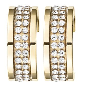 Dyrberg Kern Kimmie Yellow Gold Plated Crystal Earrings - Product number 3055493