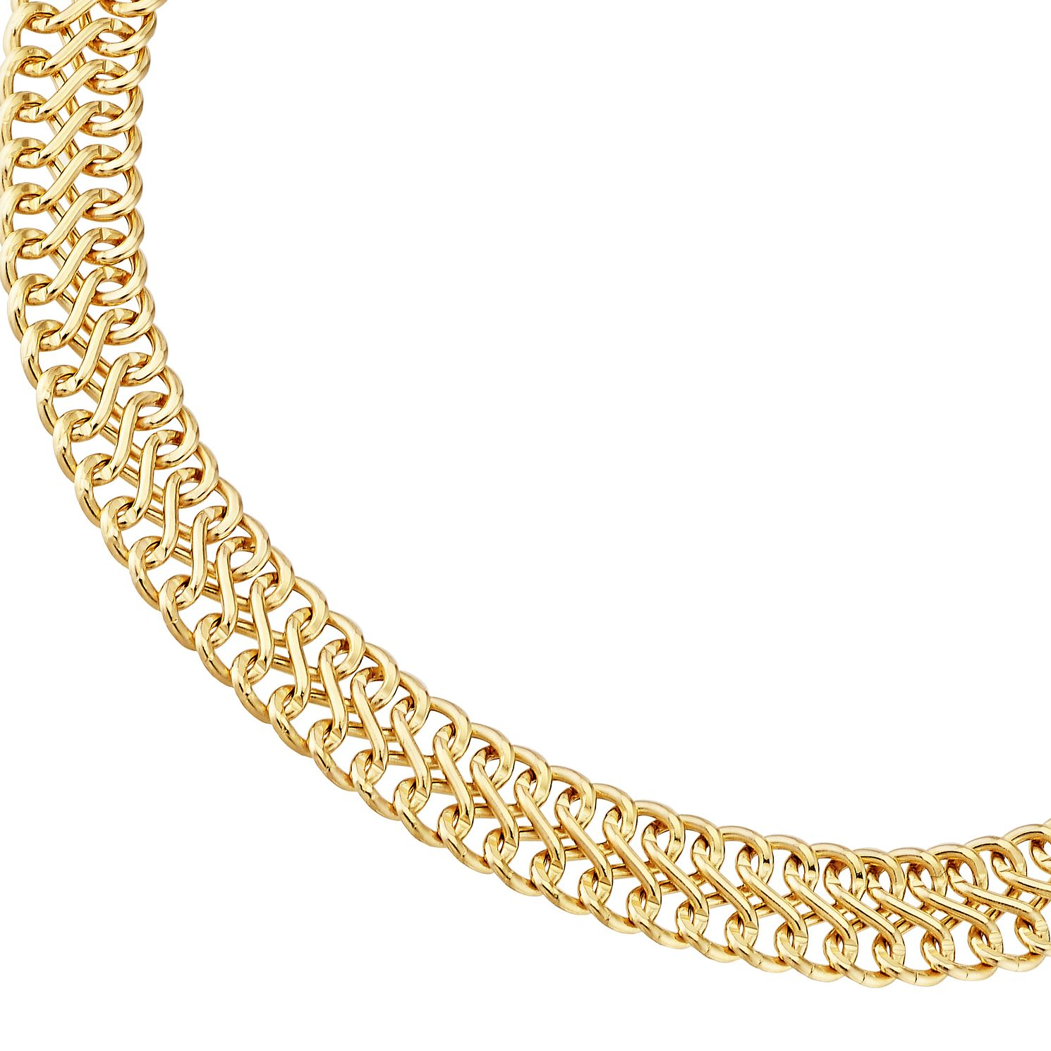 9ct Yellow Gold 7.5 inches Double Chain Bracelet - Product number 3057402