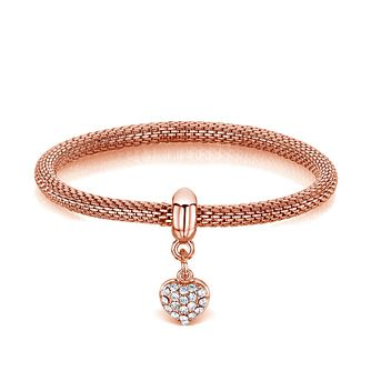 Buckley London Rose Gold-Plated Heart Charm Mesh Bracelet - Product number 3061787