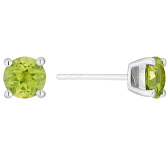 9ct white gold peridot stud earrings - Product number 3062813