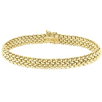 9ct gold 7.5inch multilink bracelet - Product number 3068447