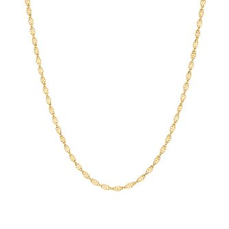 9ct Gold Sparkle Twist Chain - Product number 3071553