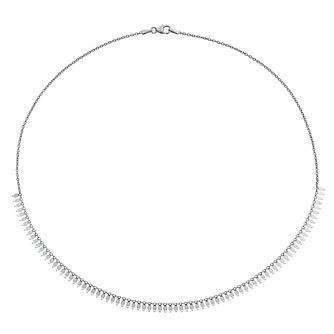 Silver Fringed Chain Necklace - Product number 3081311