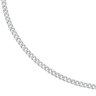Sterling Silver 18 Inch Curb Chain Necklace - Product number 3081389