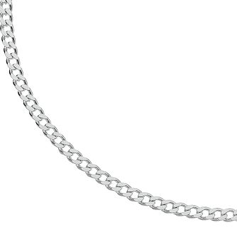 "Silver 18"" Curb Chain Necklace - 120g - Product number 3081397"