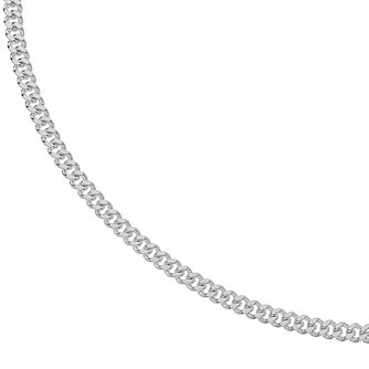 Silver 20 inches Curb Chain Necklace - 140g - Product number 3081427