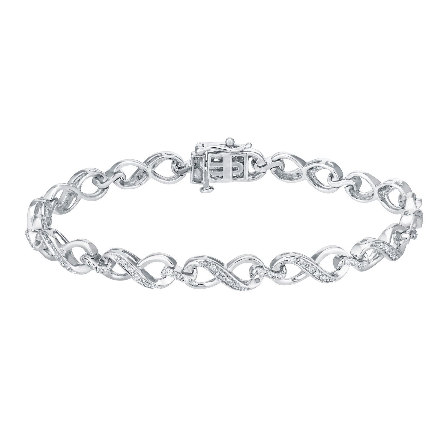 Sterling Silver 0.25ct Diamond Bracelet - Product number 3081966
