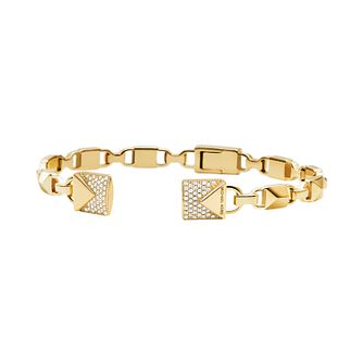 Michael Kors 14ct Yellow Gold Plated Cubic Zirconia Bangle - Product number 3082792