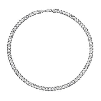 "Men's Silver 20"" Curb Chain Necklace - Product number 3083373"