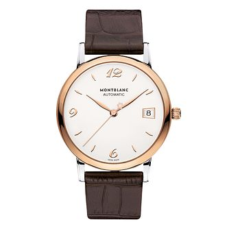Montblanc Star Classique Men's Brown Leather Strap Watch - Product number 3085147