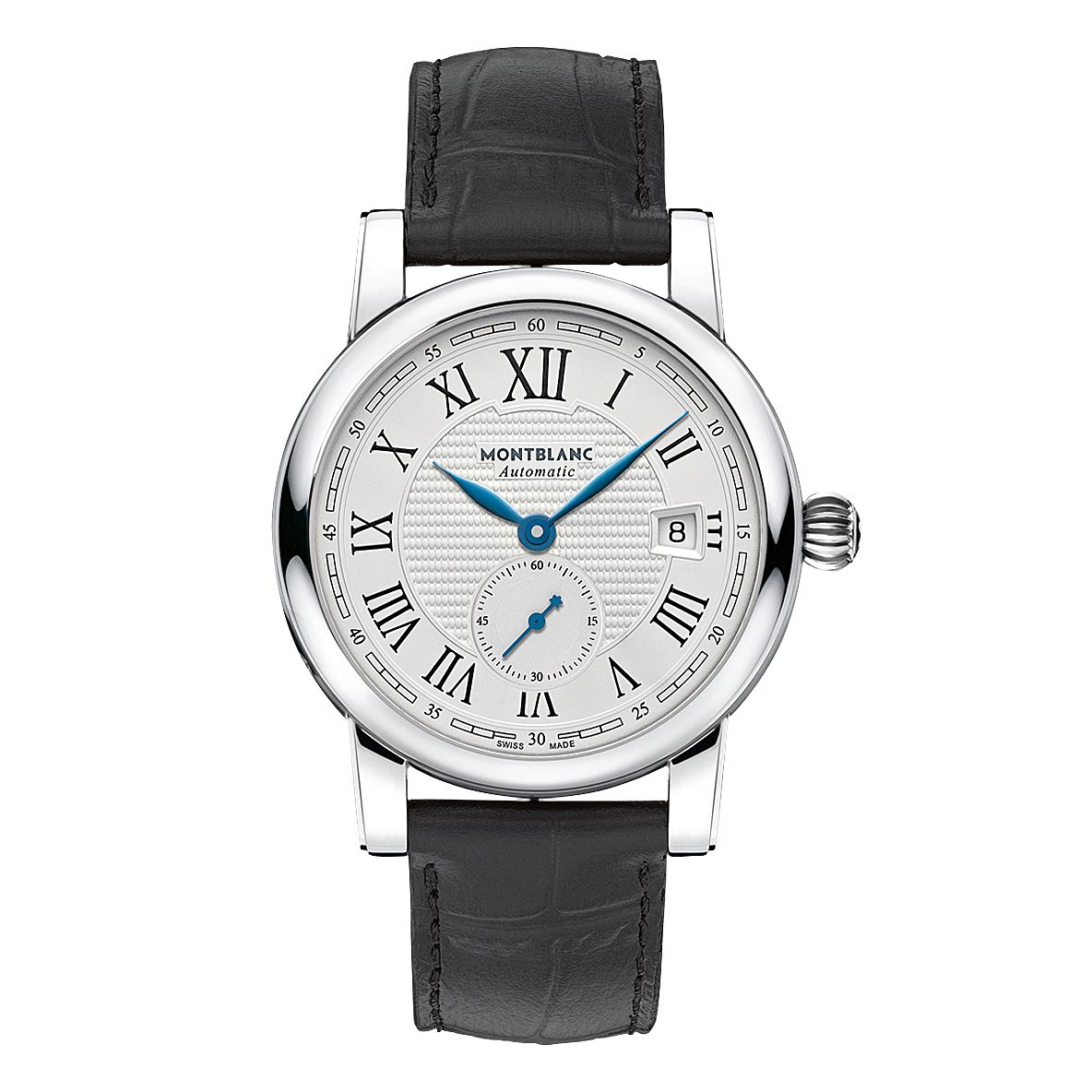Montblanc Star Roman Men's Black Leather Strap Watch - Product number 3085171
