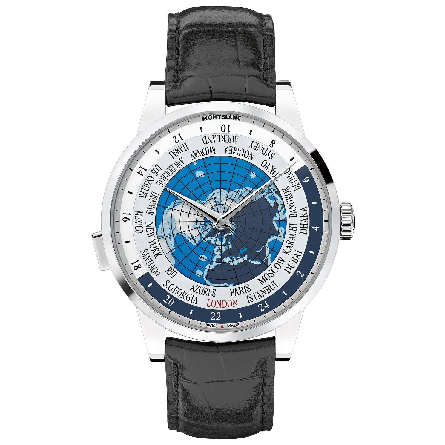 Montblanc Heritage Spirit Men's Black Leather Strap Watch - Product number 3085279