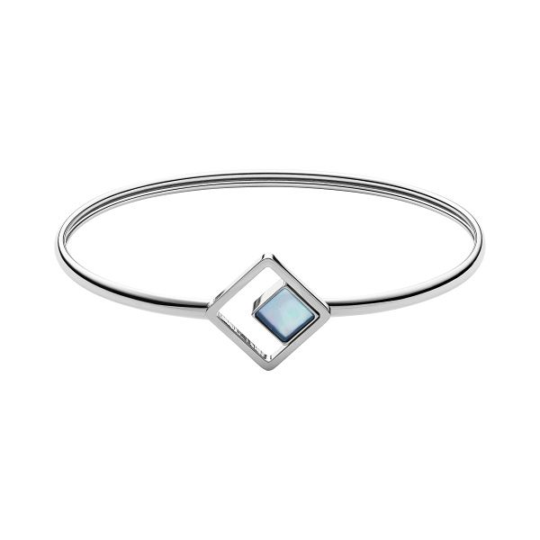 Skagen Agnethe Stainless Steel Blue Mother Of Pearl Bangle - Product number 3086313