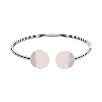 Skagen Ellen Ladies' Stainless Steel Rose Quartz Bangle - Product number 3086348
