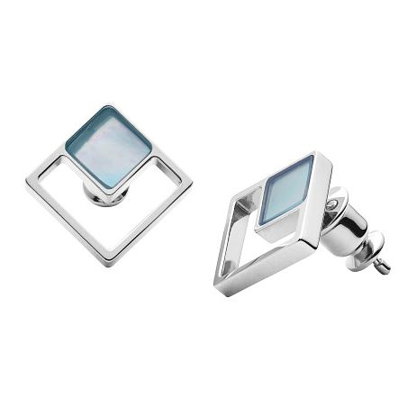 Skagen Agnethe Stainless Steel Blue Mother Of Pearl Earrings - Product number 3086380