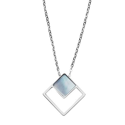 Skagen Agnethe Stainless Steel Blue Mother of Pearl Necklace - Product number 3086410