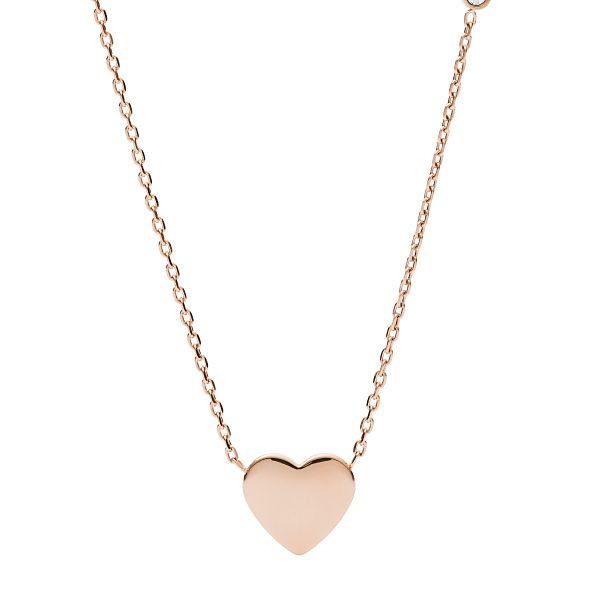 Fossil Rose Gold Tone Vintage Heart Necklace - Product number 3086607