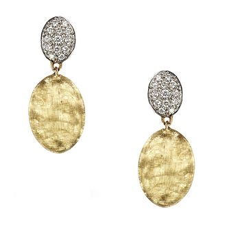 Marco Bicego Siviglia 18ct Gold & 0.20ct Diamond Earrings - Product number 3086615