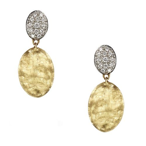 Marco Bicego Siviglia 18ct gold & 20pt diamond earrings - Product number 3086615