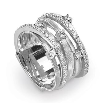 Marco Bicego Goa 18ct white gold 41pt diamond ring - Product number 3086844