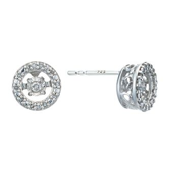 Diamonds In Rhythm Sterling Silver Diamond Stud Earrings - Product number 3087220