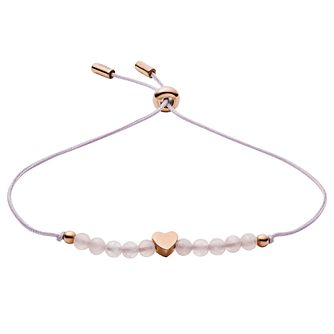 Fossil Nylon & Rose Quartz Beaded Bracelet - Product number 3087298