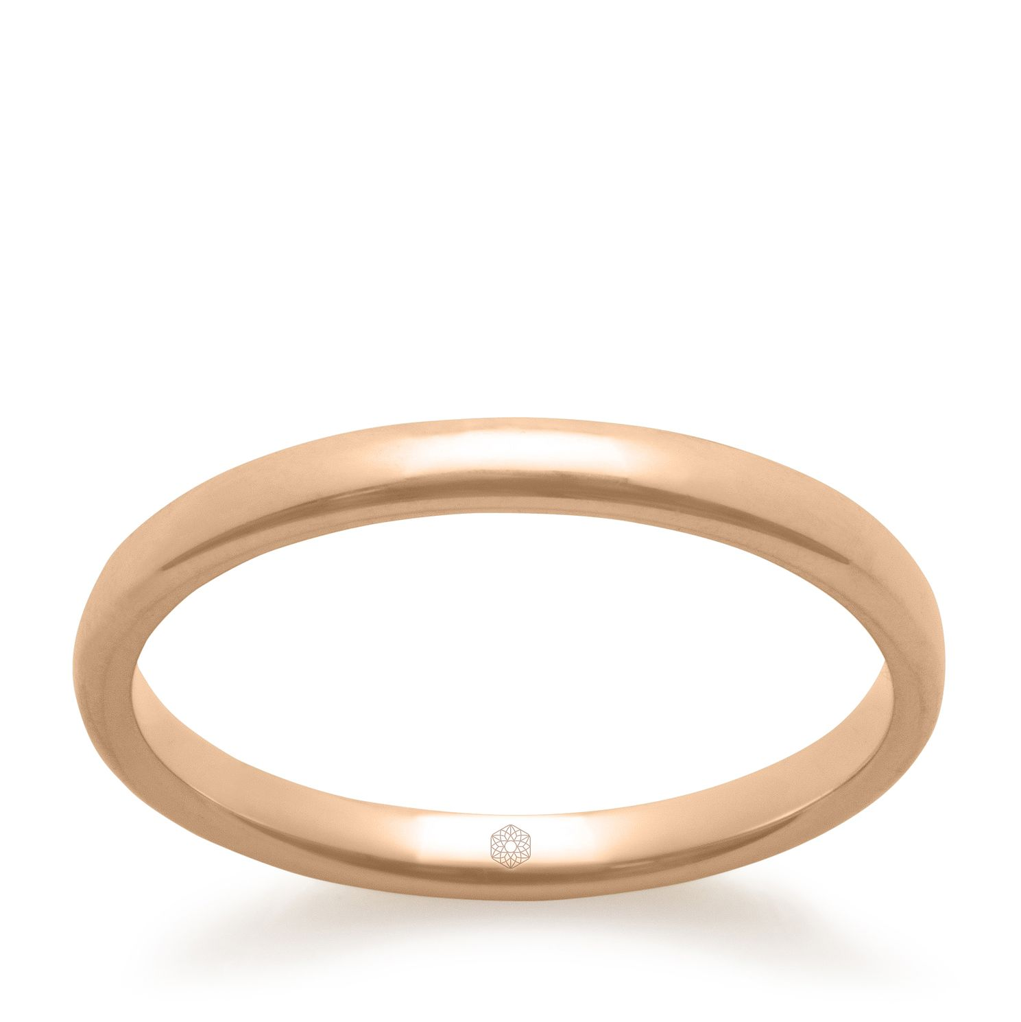 Baird Mint 18ct Rose Gold Blush 2mm Court Ring - Product number 3090388