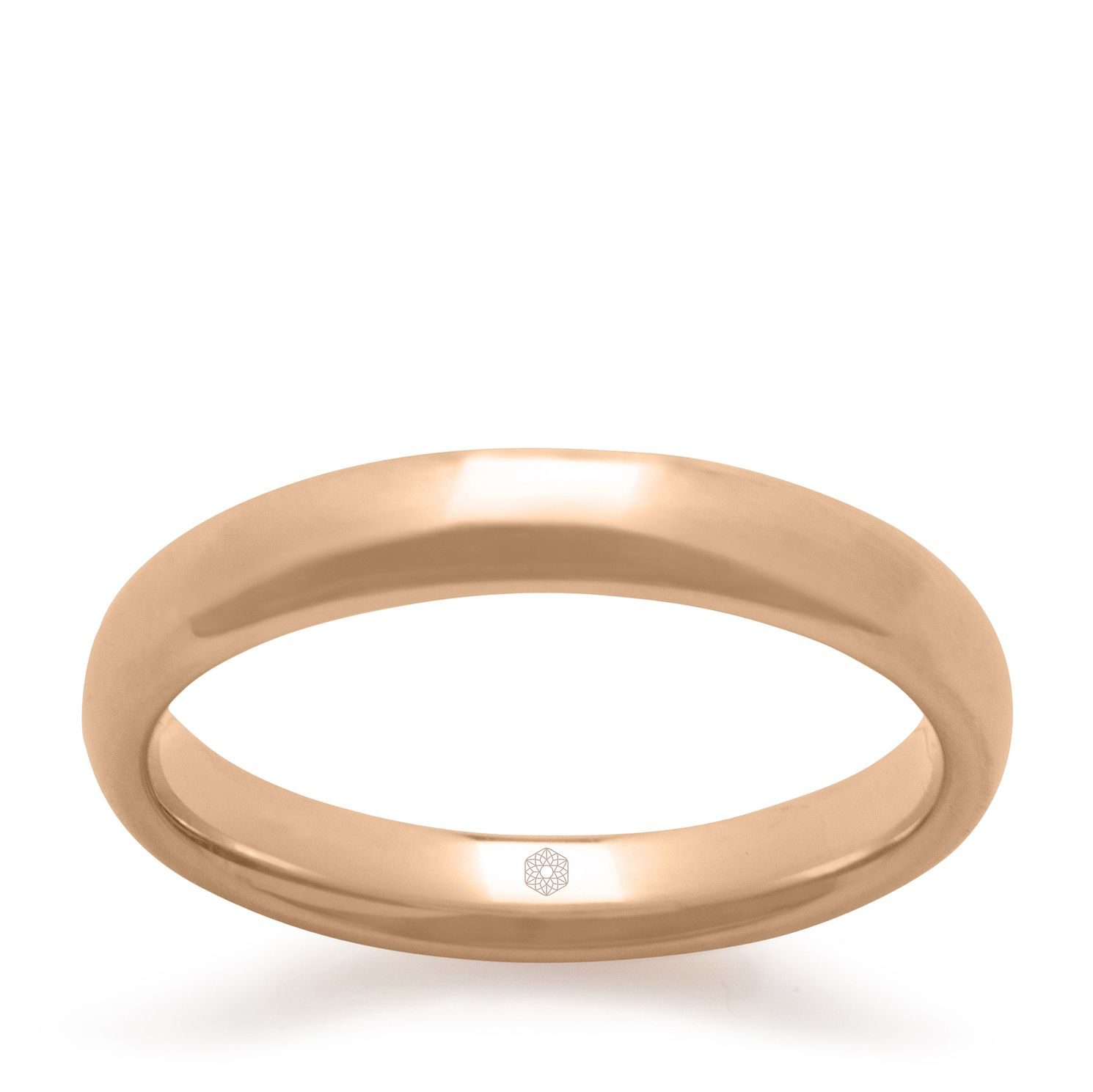 Baird Mint 18ct Rose Gold Blush 3mm Court Ring - Product number 3092771