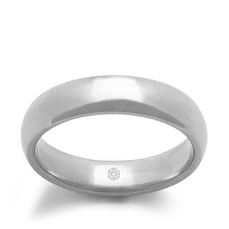 Baird Mint 18ct White Gold Arctic 4mm Court Ring - Product number 3095878
