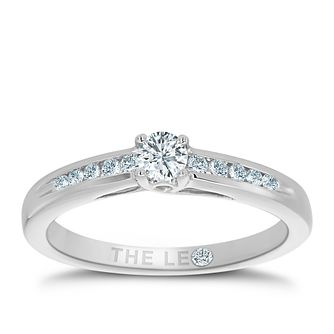 Leo Diamond 18ct white gold 1/4ct solitaire diamond ring - Product number 3097137