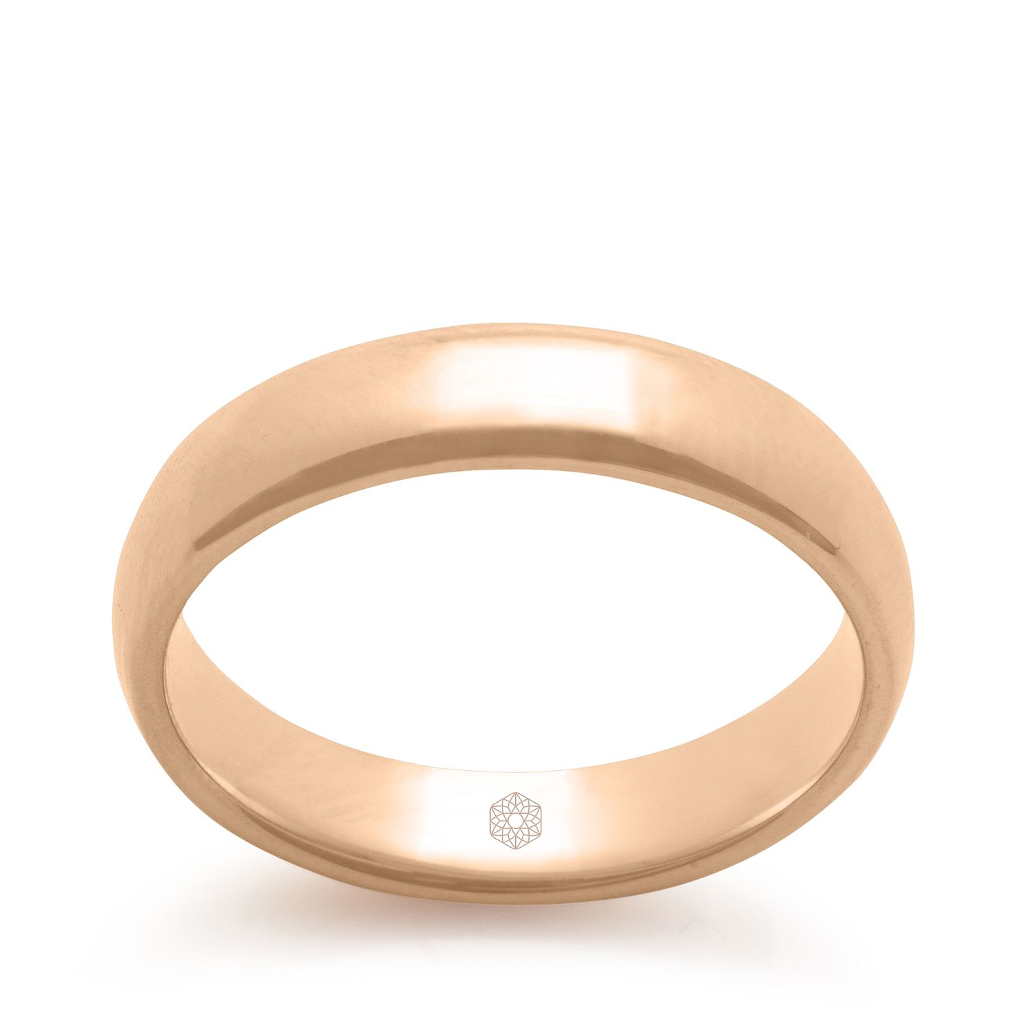 Baird Mint 18ct Rose Gold Blush 4mm Court Ring - Product number 3097358