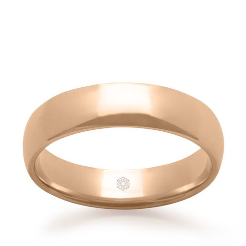 Baird Mint 18ct Rose Gold Blush 5mm Court Ring - Product number 3098117