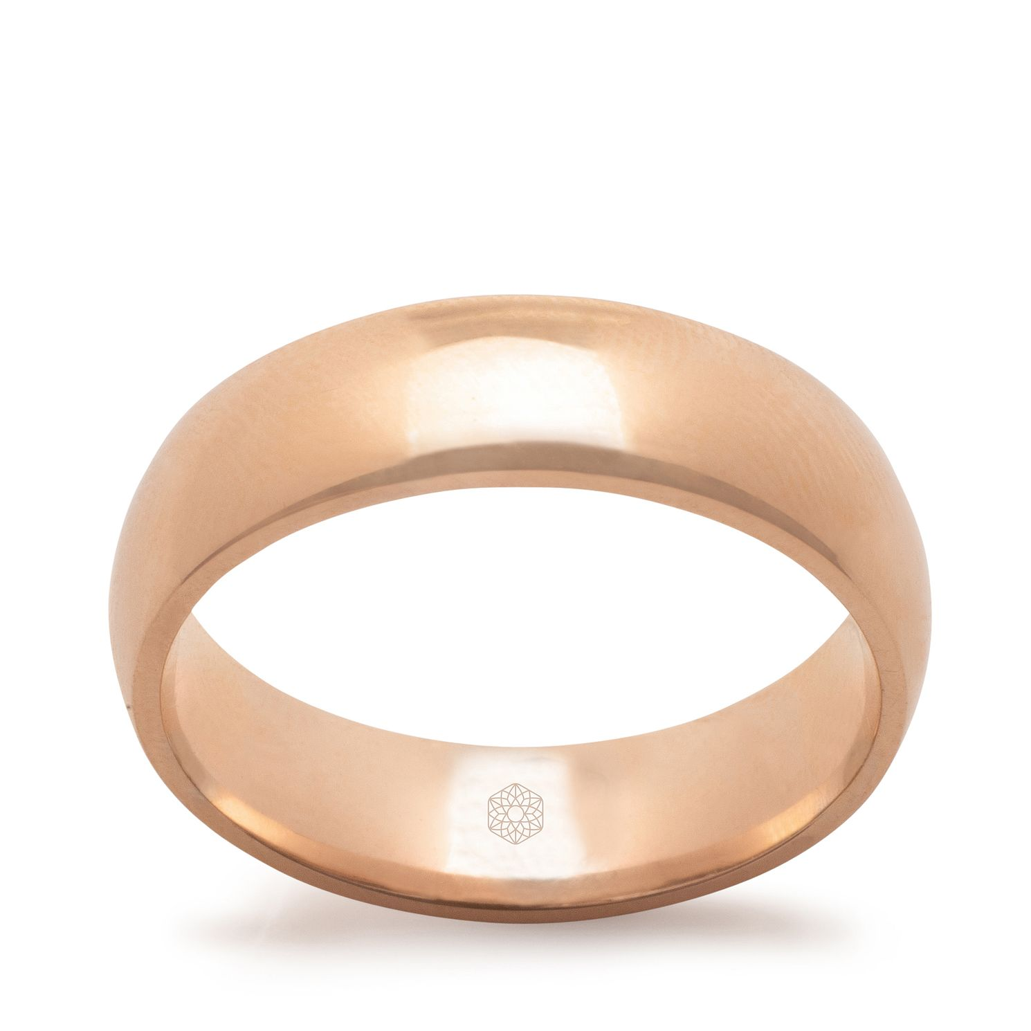 Baird Mint 18ct Rose Gold Blush 6mm Court Ring - Product number 3098672