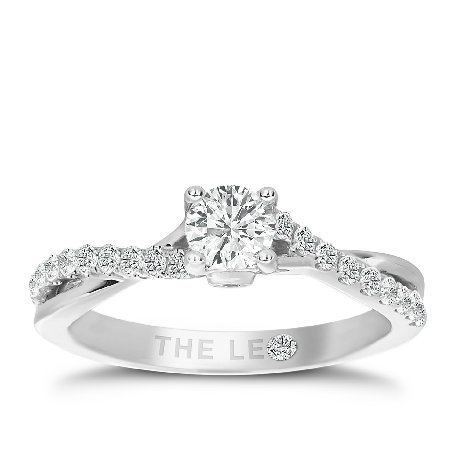 Leo Diamond 18ct White Gold 0.66ct Total Diamond Ring - Product number 3098761