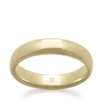 Baird Mint 18ct Yellow Gold Champagne 4mm Court Ring - Product number 3099261