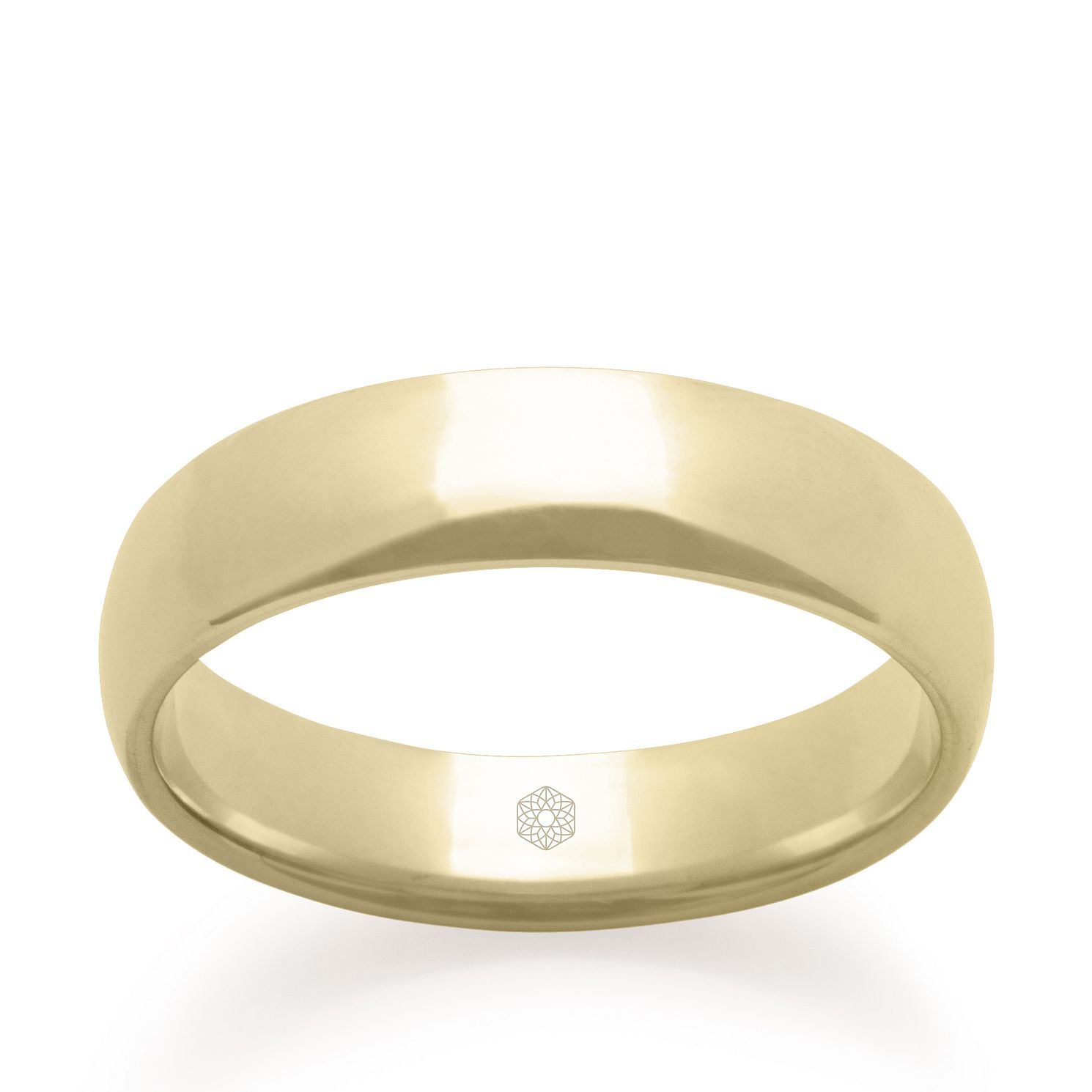 Baird Mint 18ct Yellow Gold Champagne 5mm Court Ring - Product number 3099881